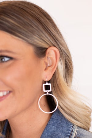 sku16995 | Square and Circle Earrings