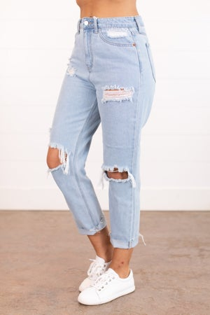 sku16064 | Distressed High Rise Jeans