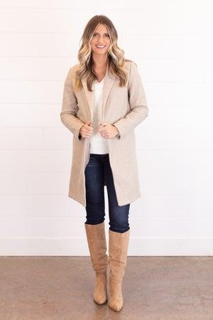 sku17553 | Fleece Open Front Coat