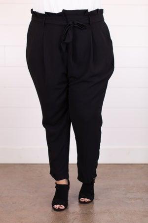 sku18050   High Waist Paper Bag Pants