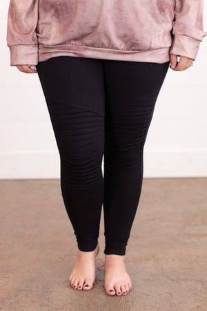 sku16282 | **Daily Deal** Brushed Knit Moto Leggings