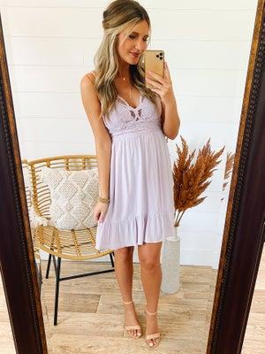 sku21612   Lace Bralette Ruffled Hem Dress