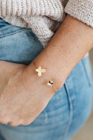 sku20365   Butterfly Open Cuff Bracelet