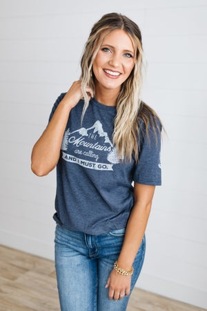 sku18654   Mountains Are Calling Unisex Graphic Tee