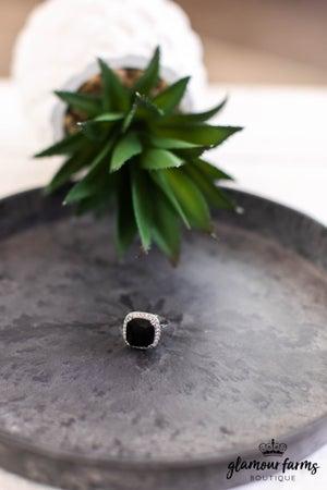 sku13854   Adjustable Cubic Zirconia Statement Ring