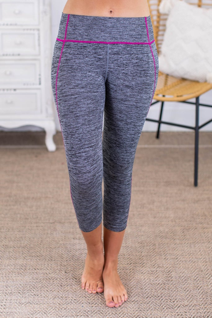 sku13768   **Daily Deal** Contrast Stitch Active Leggings
