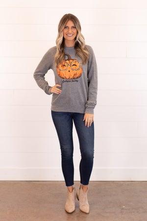 sku16559 | GF Pumpkin With Glasses Graphic Sweatshirt