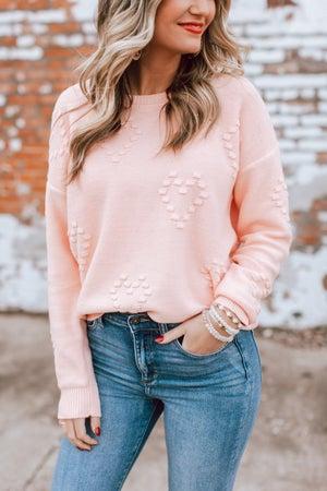 sku16903 | Raised Heart Knit Sweater