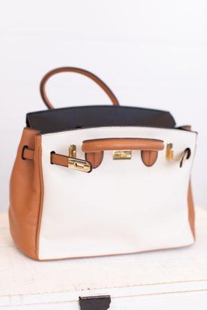 sku16935 | Color Block Bowler Handbag