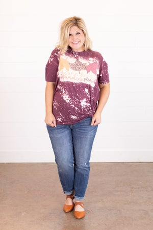 sku16231 | Autumn Leaves Bleached Graphic Tee
