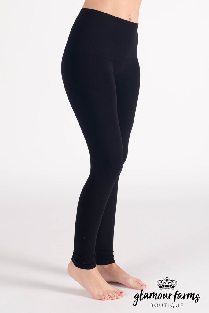 sku015c | Curvy Ahh-mazing Tummy Tuck Ankle Legging