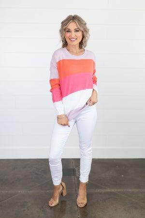 sku18210 | Color Block Sweater