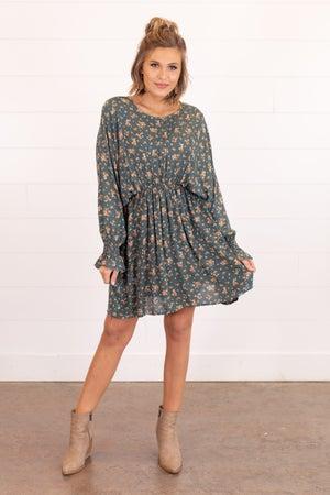 sku16645 | Floral Batwing Dress