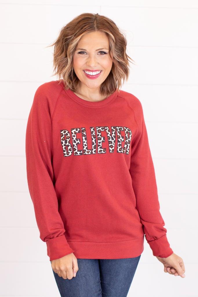 Sku17619   Believer Graphic Sweatshirt