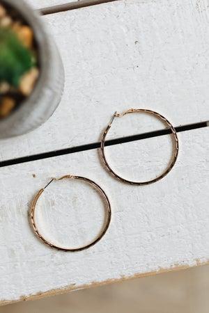 sku19075 | Hammered Hoop Earrings