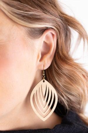 sku18010 | Laser Cut Geometric Wood Earrings