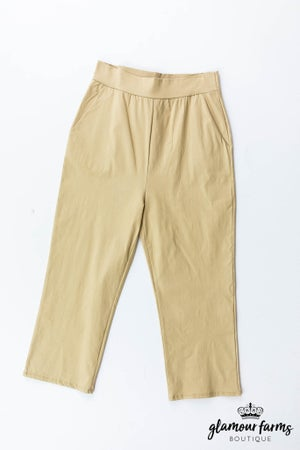 sku13147 | **Daily Deal** Basic Cropped Pants