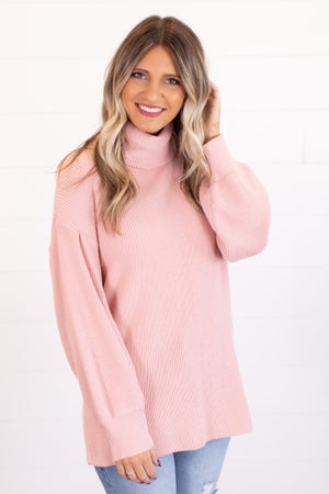 sku16885 | Ribbed Knit Turtleneck Sweater