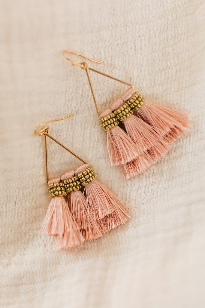 sku19643 | Triple Tassel Dangle Earrings