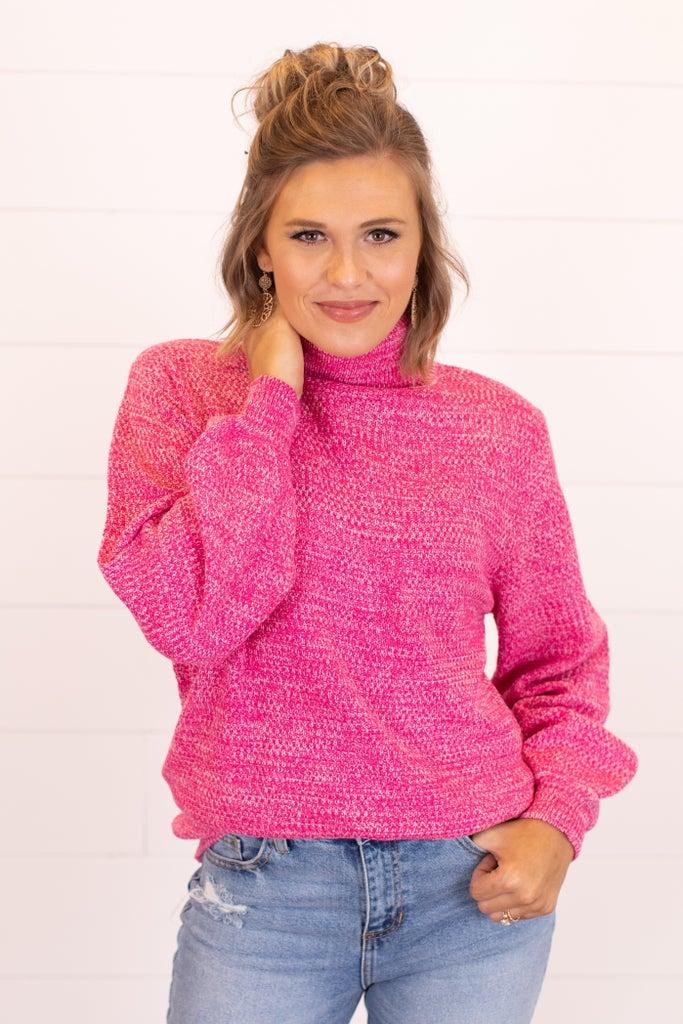 sku16313 | **Daily Deal** Heathered Turtleneck Sweater