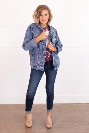 sku16216 | Studded Denim Jacket