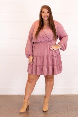 sku16461 | Satin Tiered Dress