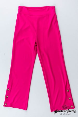 sku13129   **Daily Deal** Button Detail Pull-On Pants