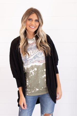 sku16199   **Daily Deal** Brushed Knit Cocoon Cardigan