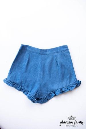 sku12289   Ruffle Hem Shorts