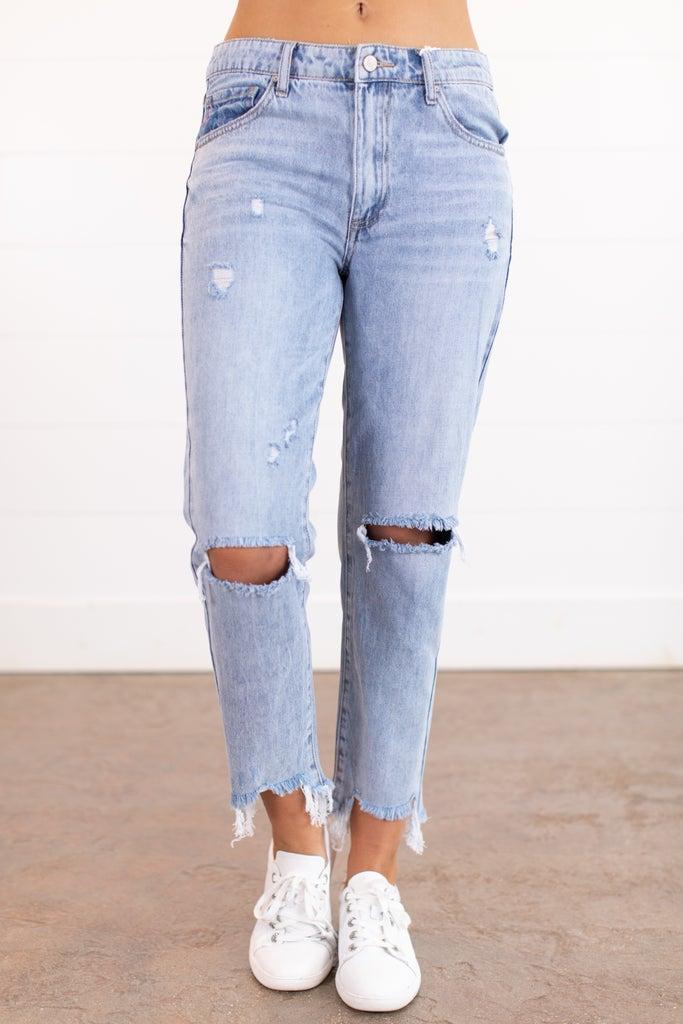 sku15909 | Distressed Boyfriend Jeans