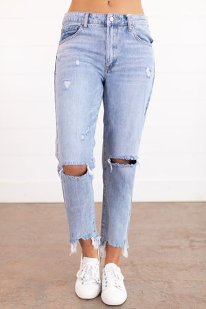 sku15909 | Distressed Boyfriend Jeans