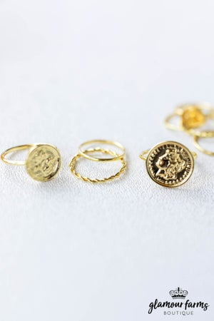 sku12366 | Coin Charm Ring