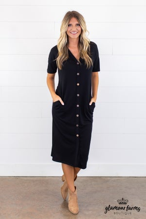 sku14733 | Button Up Midi Dress