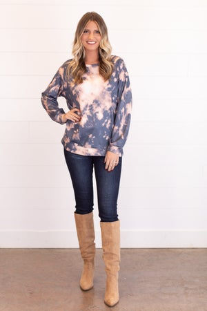 sku16664 | Tie Dyed Tunic Sweatshirt