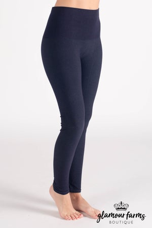 sku017c | Curvy Ahh-mazing Tummy Tuck Denim Ankle Legging