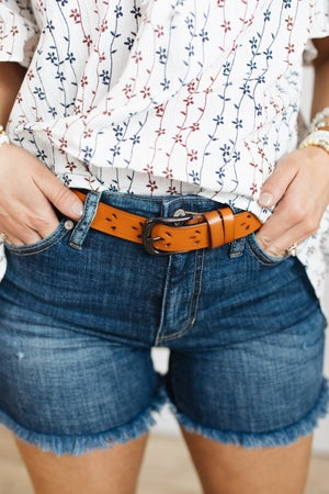 sku21298 | Genuine Leather Cut-Out Belt