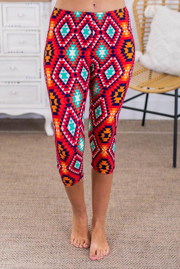 sku13769 | **Daily Deal** Aztec Print Capri Leggings