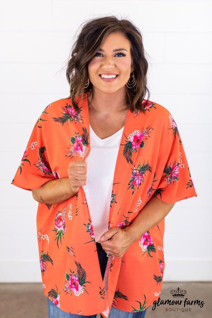sku15056 | Floral Kimono
