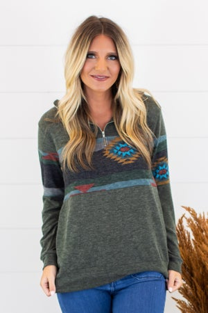 sku15192 | **Daily Deal** Aztec Print Pullover