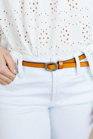sku21299 | Skinny Leather Cinch Belt