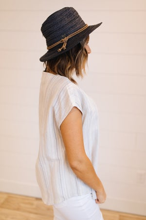 sku19689   Woven Panama Hat With Braided Band