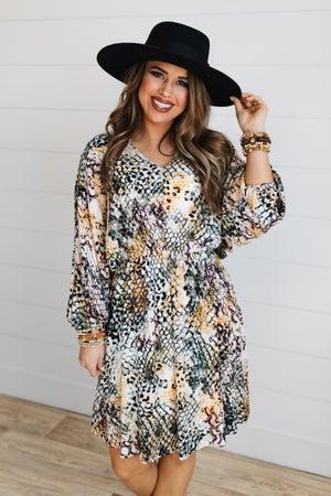 sku17183 | Animal Print Dress