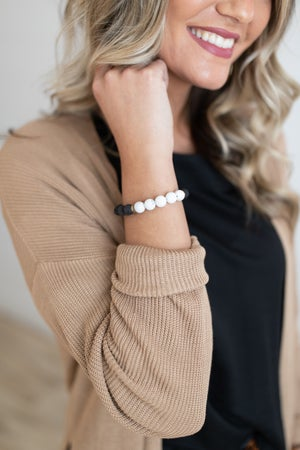 sku18571   Lava Diffusion Bead Stretch Bracelet