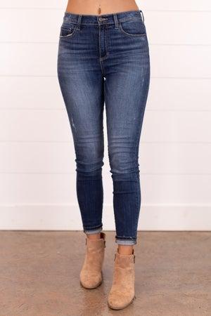 sku17108 | High Rise Whiskered Skinny Jean
