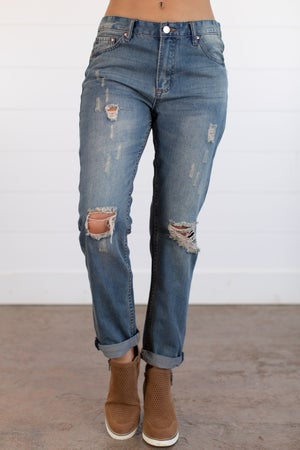 sku15737 | High Waist Boyfriend Jean