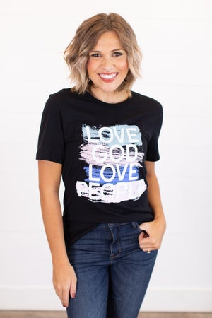 sku15986 | Love God Love People Graphic Tee