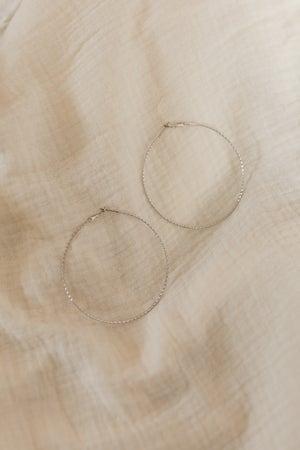 sku19878 | Textured Hoop Earrings