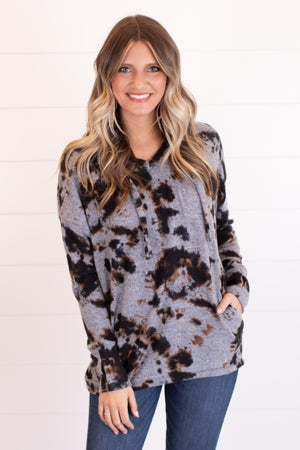 sku17743 | Tie Dyed Hooded Sweater
