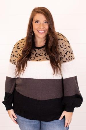 sku16945   Color Block Sweater