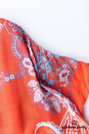 sku12644 | Multi Print Boho Kimono